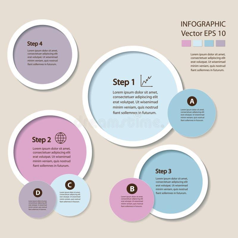 Infographics De module van de procesgrafiek stock illustratie
