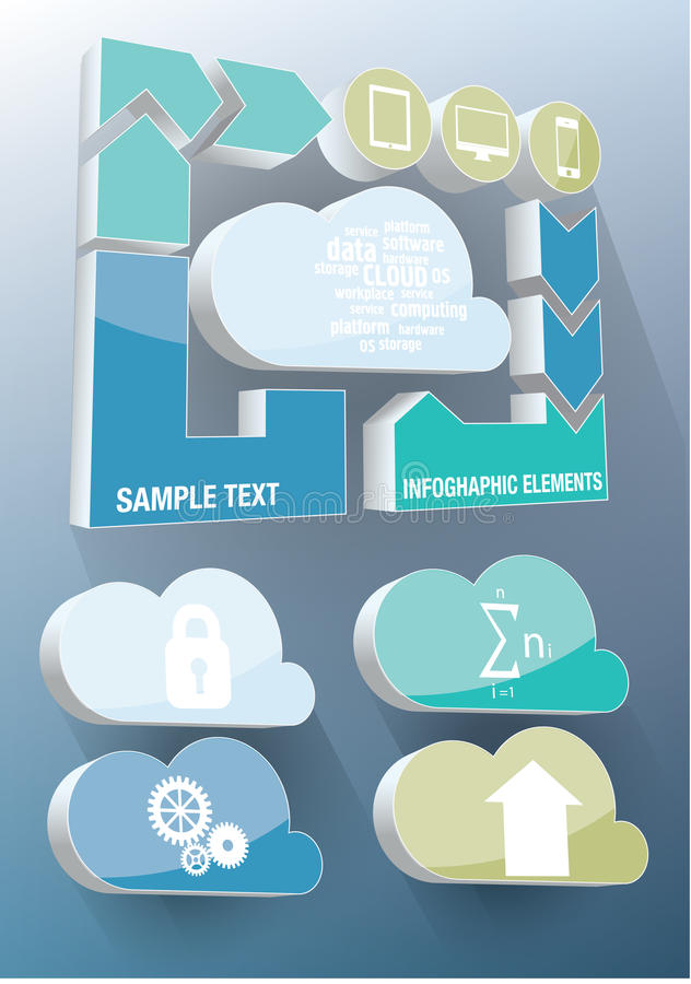 Infographics de nuage illustration stock