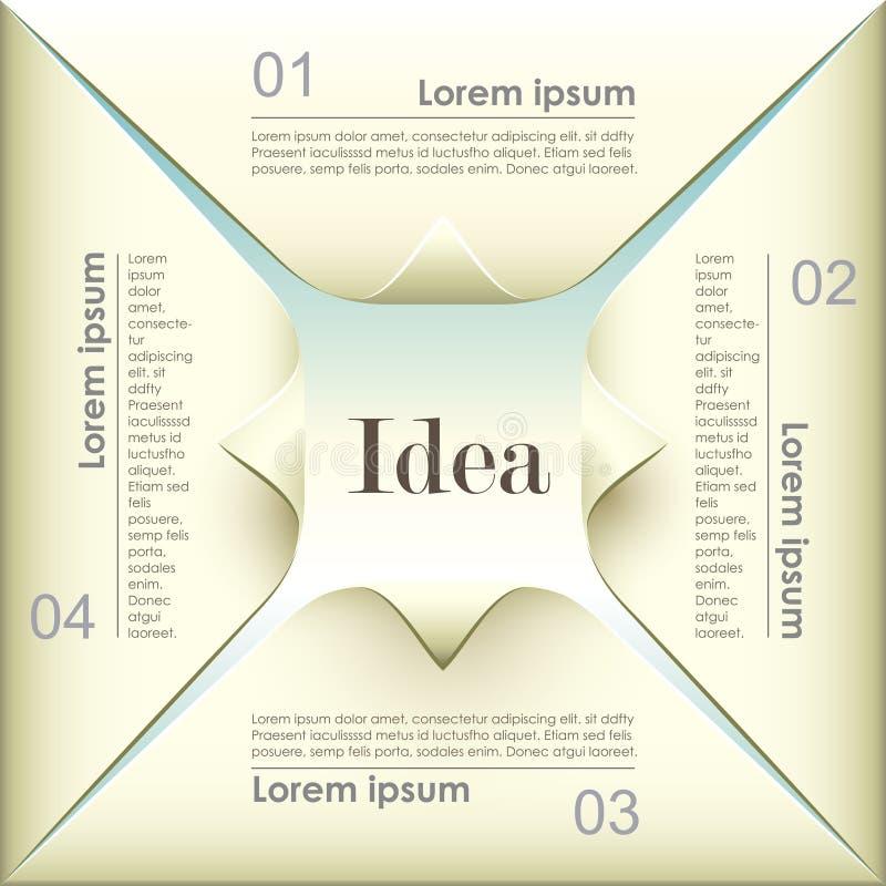 Infographics de papel de la papiroflexia abstracta 3d del vector ilustración del vector