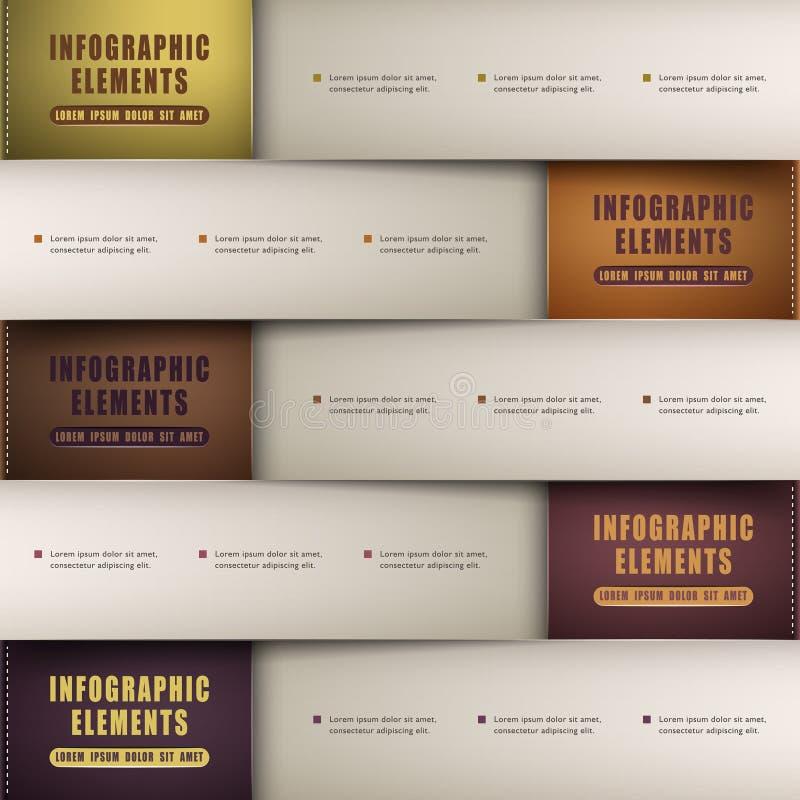 Infographics de papel de la papiroflexia clásica del extracto 3d libre illustration