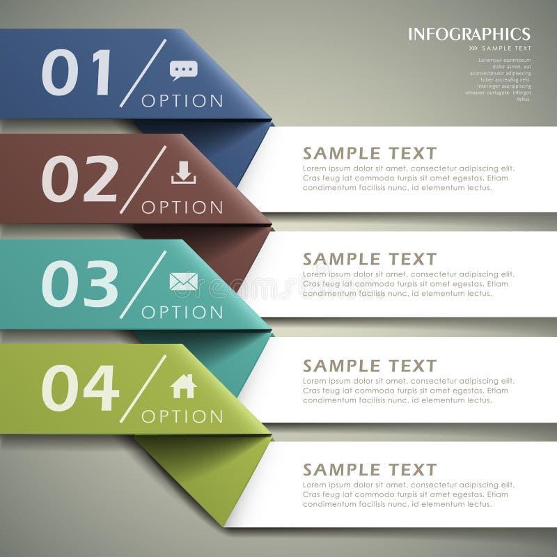 Infographics de papier de l'origami 3d abstrait illustration de vecteur