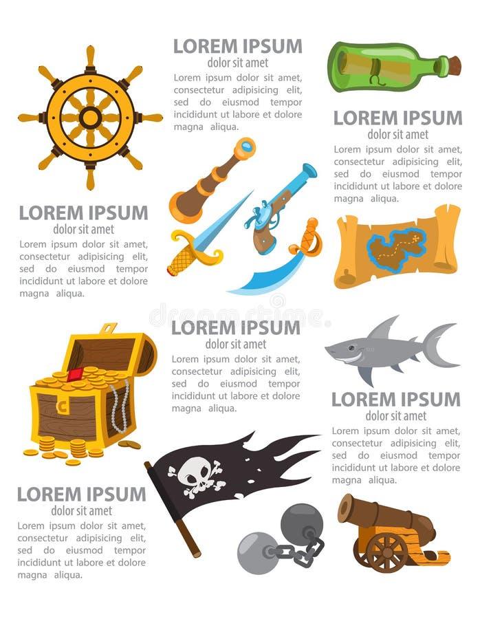 Infographics de pirate illustration de vecteur