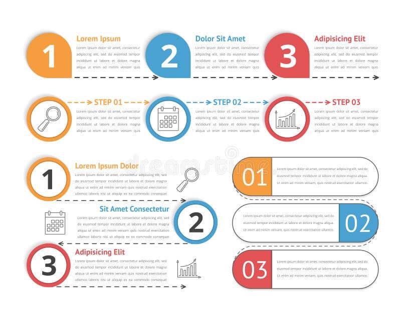 Infographics de proceso ilustración del vector
