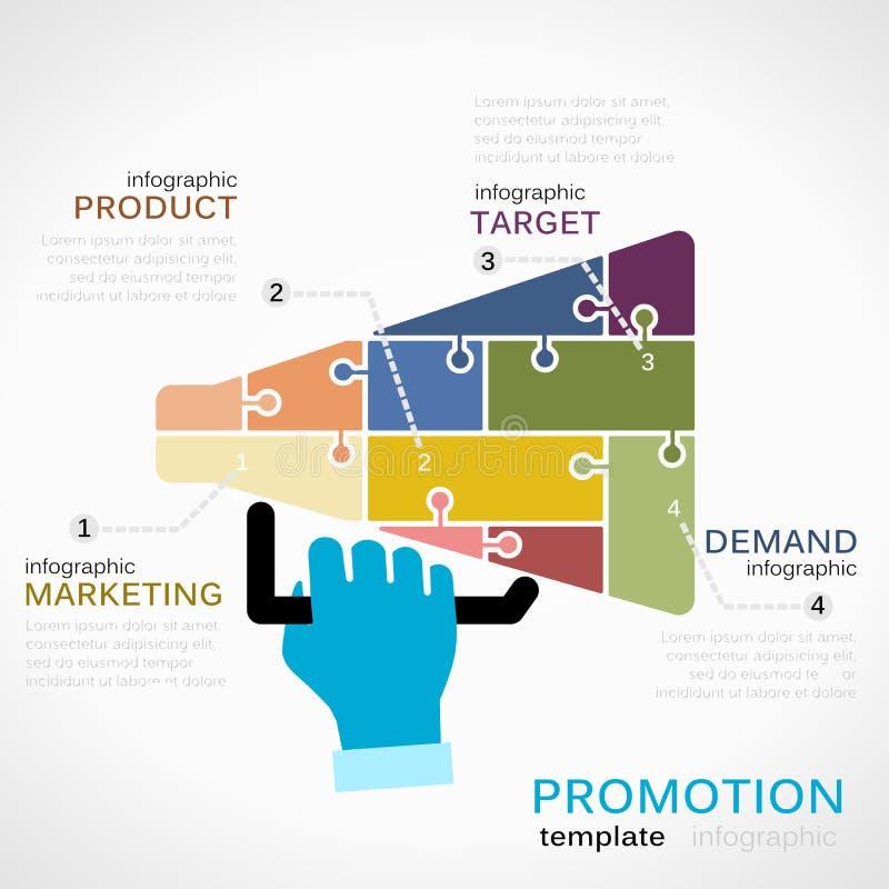 Infographics de promotions illustration stock