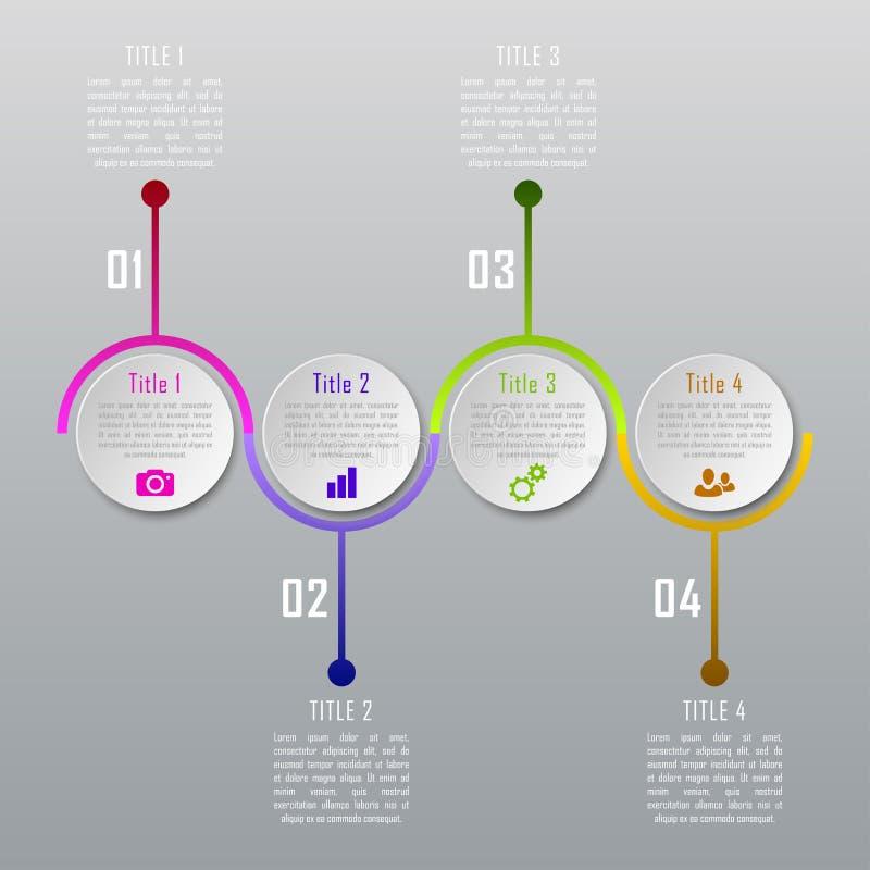 Infographics de quatro etapas ilustração royalty free