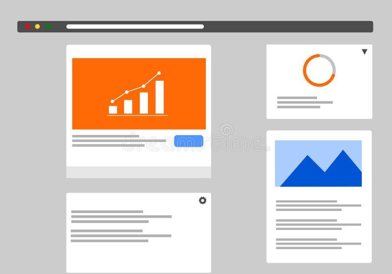 Infographics de surpresa do Web site ou do painel imagens de stock