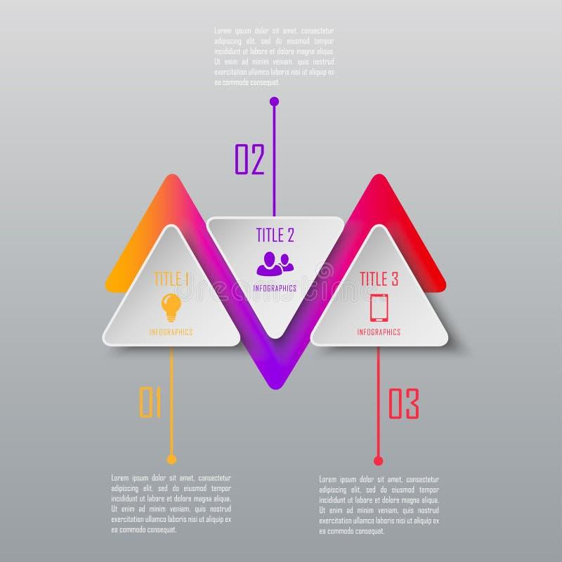 Infographics de três etapas fotos de stock royalty free