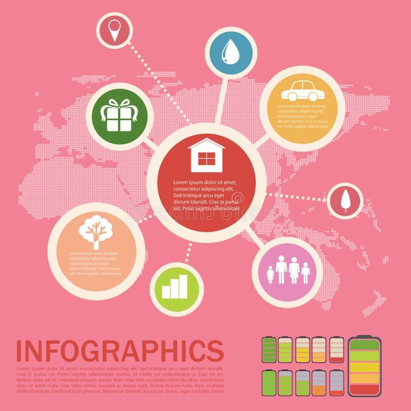 Infographics de un ambiente ilustración del vector