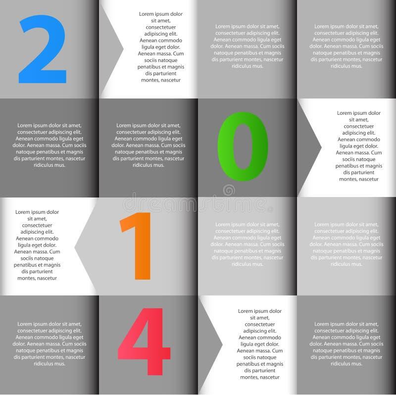 2014 INFOGRAPHICS-de vector van ontwerpelementen vector illustratie