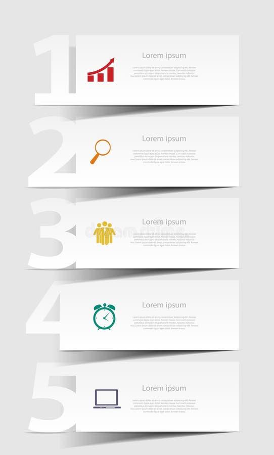 INFOGRAPHICS de vectorillustratie van ontwerpelementen royalty-vrije illustratie