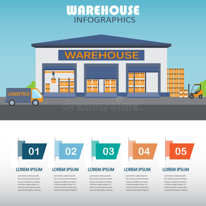 Infographics de Warehouse libre illustration