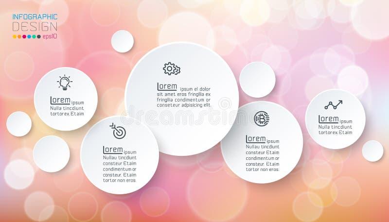 Infographics dei cerchi con il sapone delle bolle illustrazione di stock