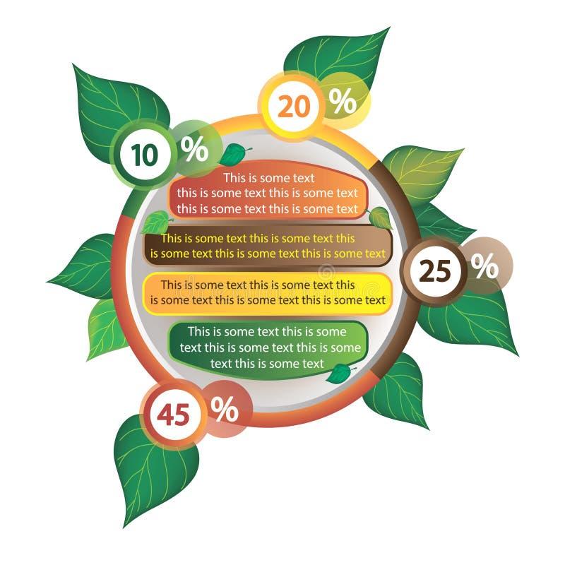 Infographics dekorował z liśćmi drzewa obraz royalty free