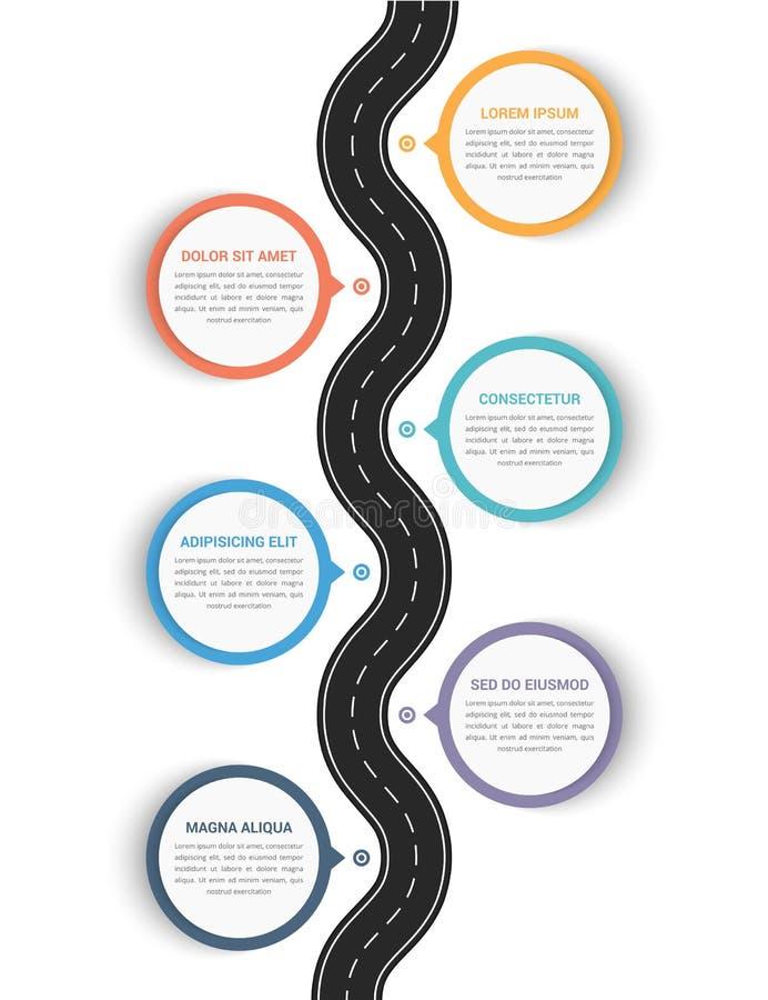 Infographics del camino ilustración del vector