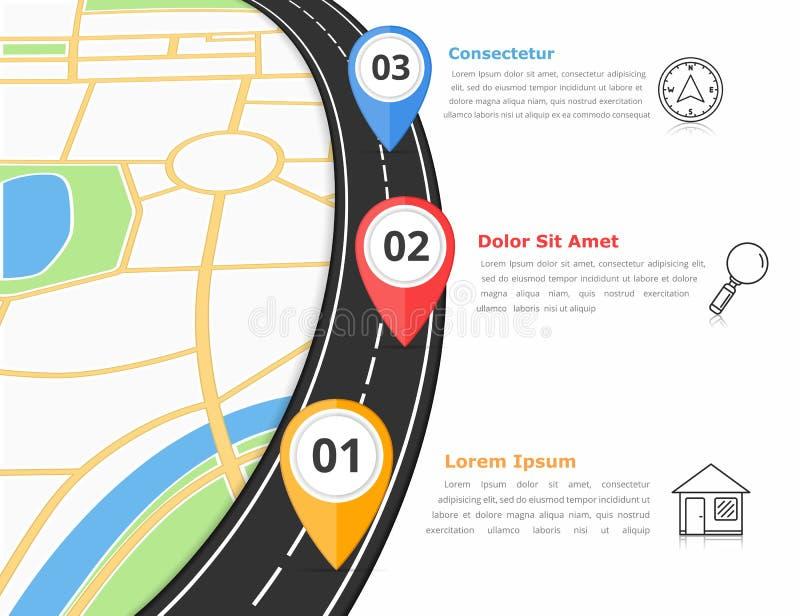 Infographics del camino stock de ilustración