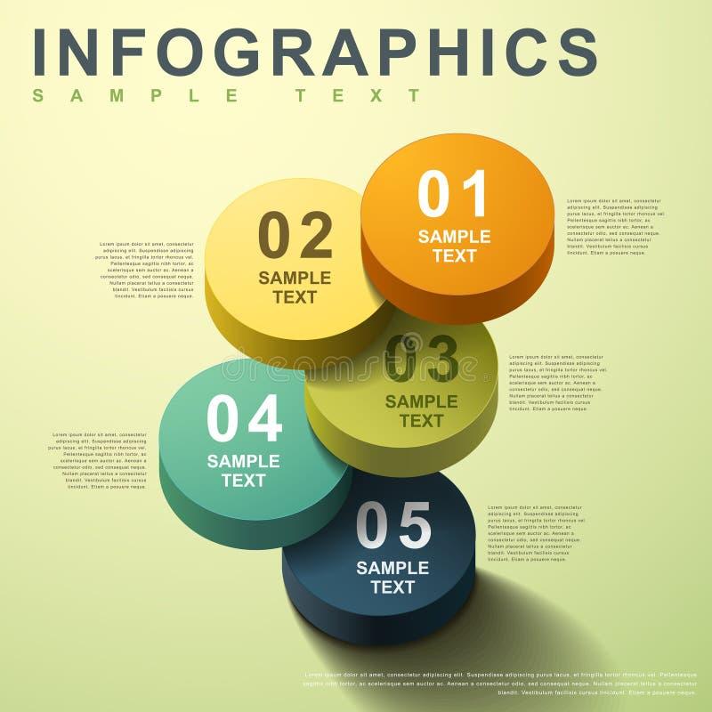 infographics del cilindro del extracto 3d ilustración del vector