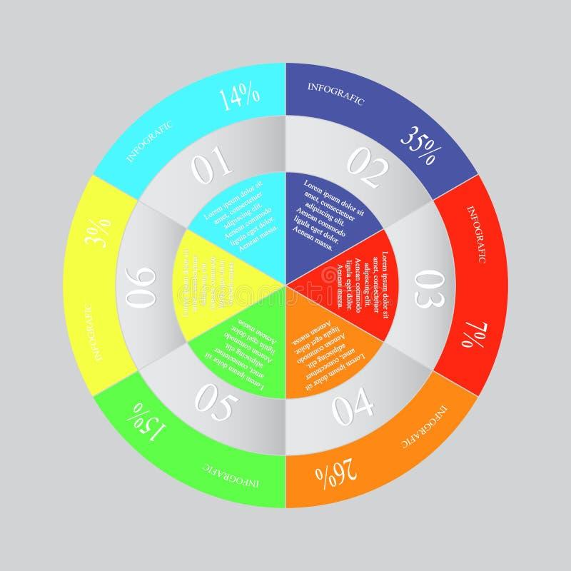 Infographics del ejemplo del vector stock de ilustración