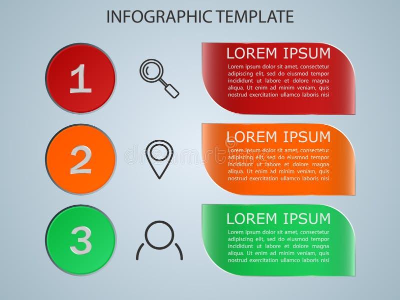Infographics del ejemplo del vector 3 opciones Plantilla para el folleto, negocio, diseño web EPS 10 libre illustration