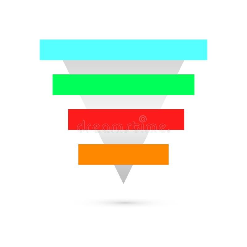 Infographics del negocio con las etapas ilustración del vector