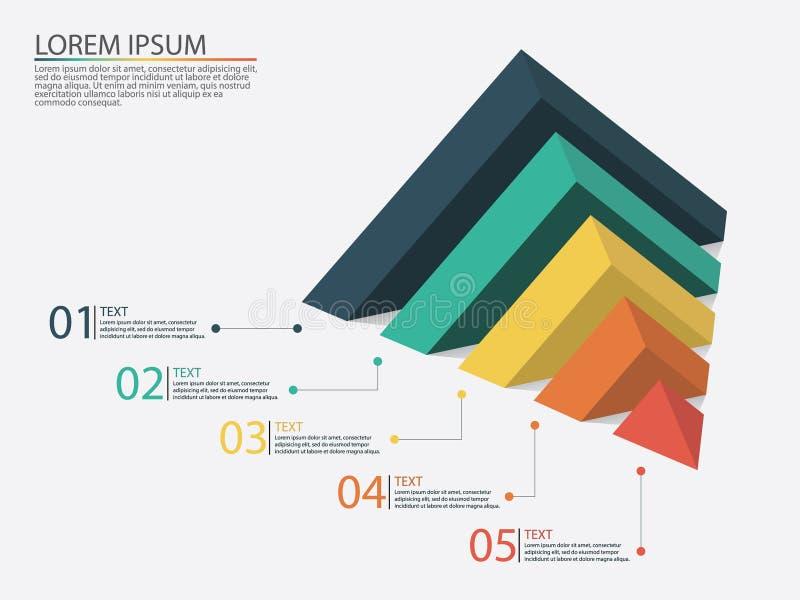 Infographics del negocio con las etapas de un embudo de las ventas libre illustration