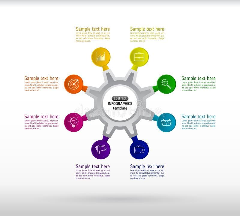 Infographics del negocio con ocho pasos para el éxito Ele abstracto libre illustration