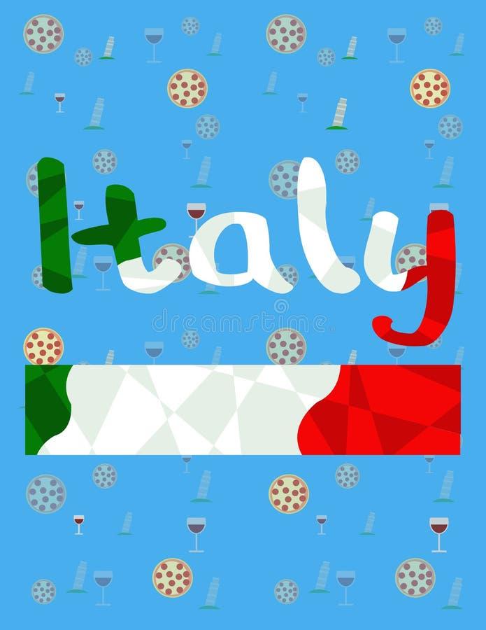 Infographics del paese della mappa dell'Italia royalty illustrazione gratis