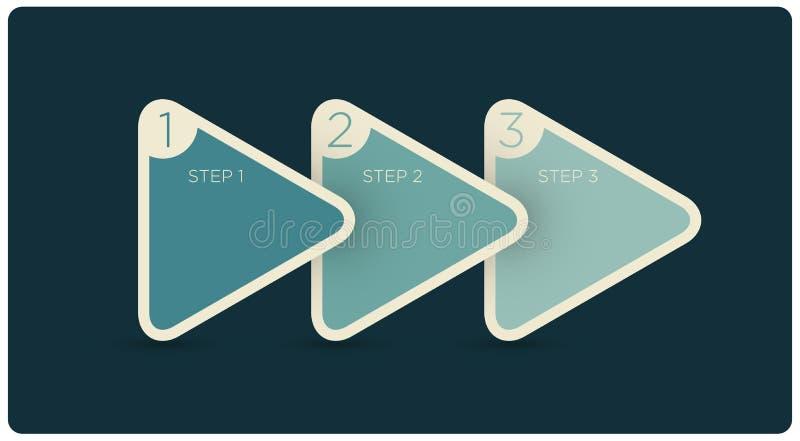 Infographics del triángulo del vector stock de ilustración