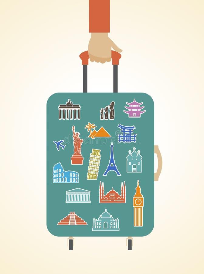 Infographics del viaje libre illustration