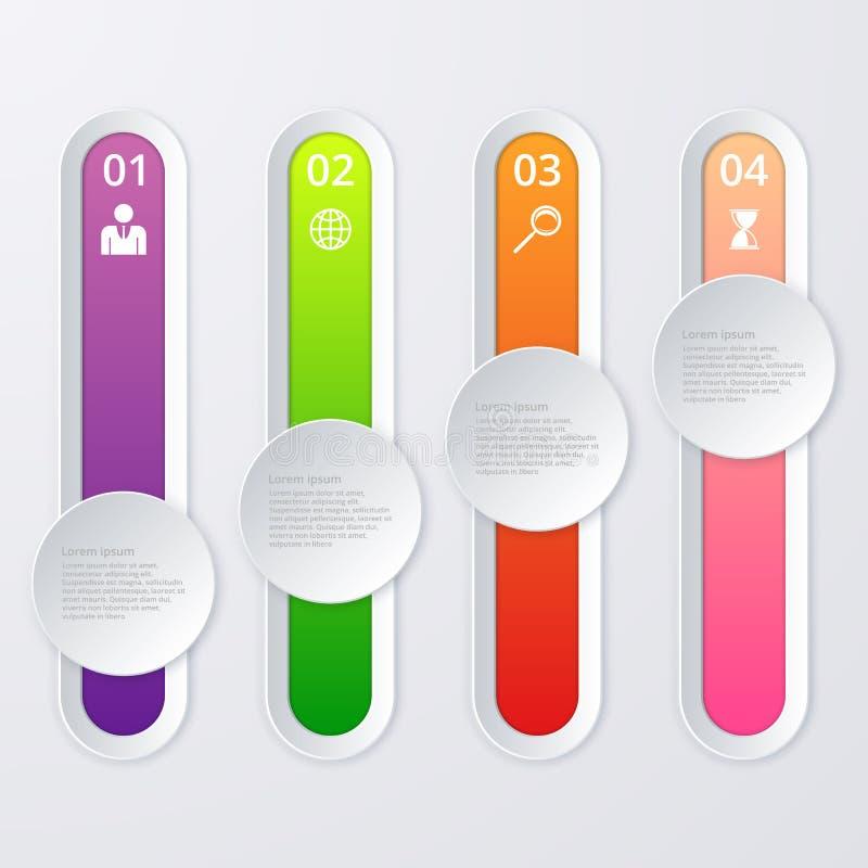 Download Infographics Dell'illustrazione Di Vettore 4 Opzioni Illustrazione Vettoriale - Illustrazione di etichetta, concetto: 56891378