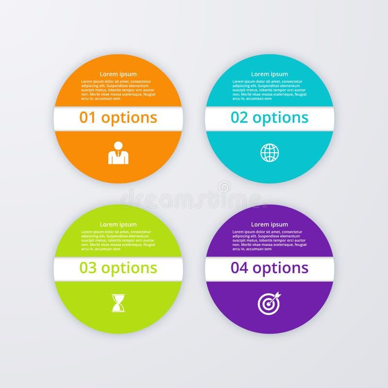 Download Infographics Dell'illustrazione Di Vettore Quattro Cerchi Illustrazione Vettoriale - Illustrazione di quattro, background: 56891262