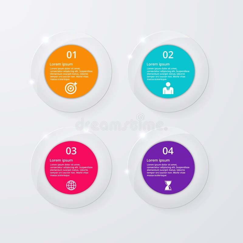 Download Infographics Dell'illustrazione Di Vettore Quattro Cerchi Illustrazione Vettoriale - Illustrazione di collegamento, elemento: 56891287