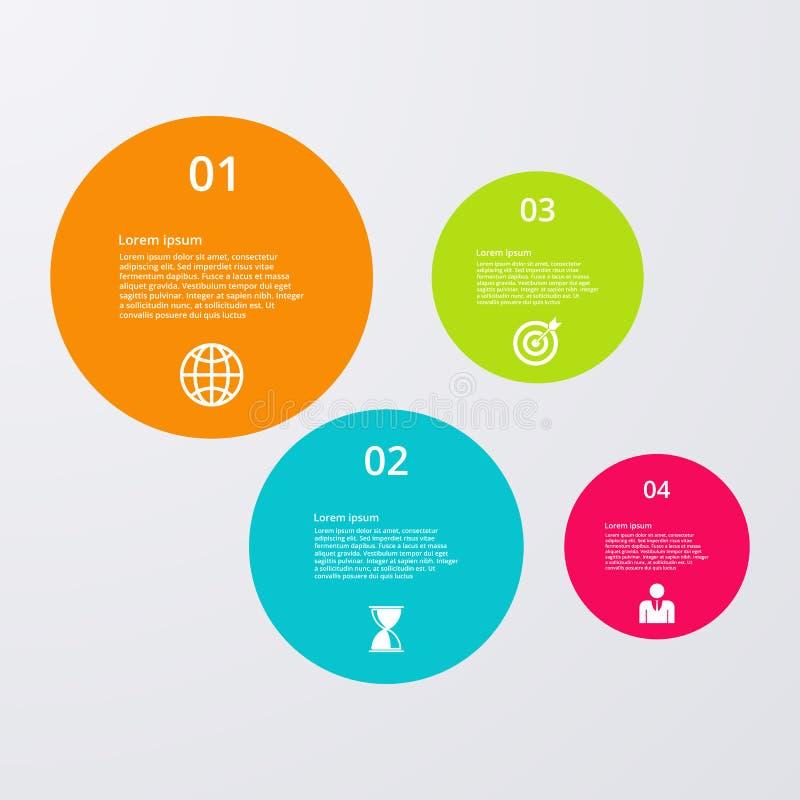 Download Infographics Dell'illustrazione Di Vettore Quattro Cerchi Illustrazione Vettoriale - Illustrazione di tabella, cerchi: 56891308