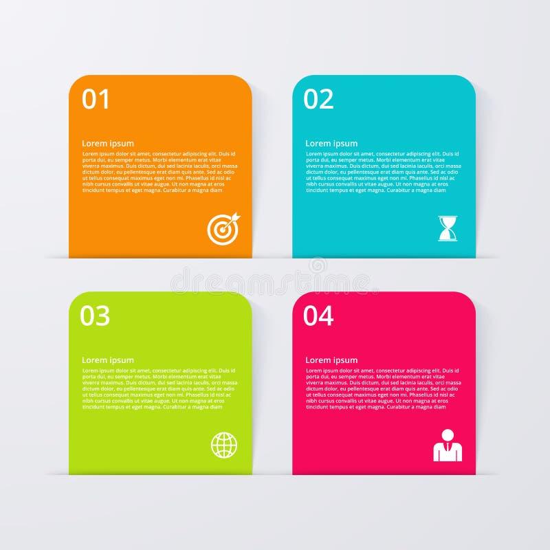 Download Infographics Dell'illustrazione Di Vettore Quattro Opzioni Illustrazione Vettoriale - Illustrazione di geometrico, modello: 56889186