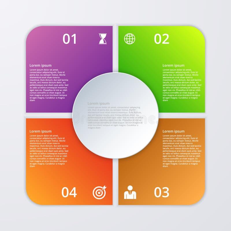 Download Infographics Dell'illustrazione Di Vettore Quattro Opzioni Illustrazione Vettoriale - Illustrazione di circolare, collegato: 56889914