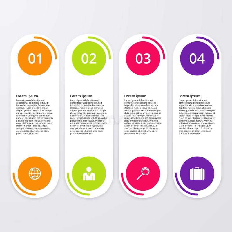 Download Infographics Dell'illustrazione Di Vettore Quattro Opzioni Illustrazione Vettoriale - Illustrazione di moderno, frecce: 56891325