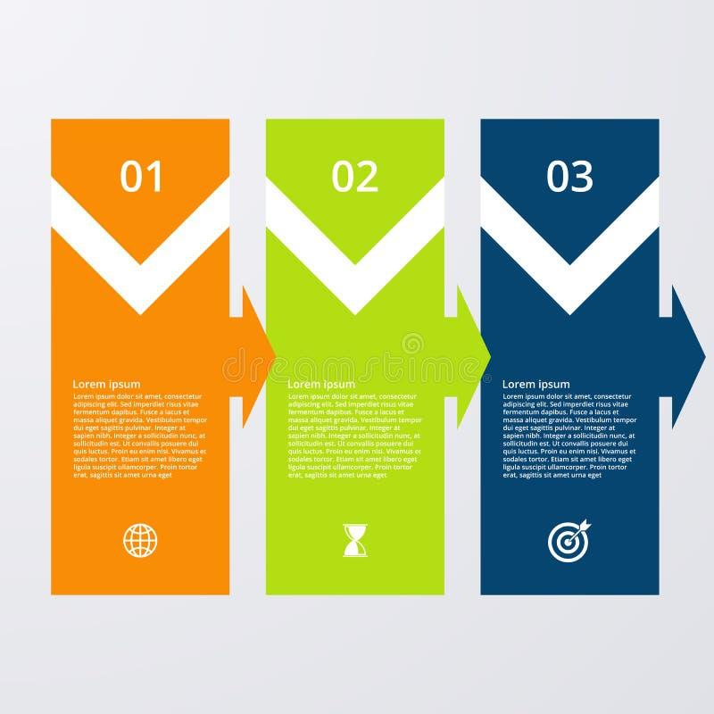 Download Infographics Dell'illustrazione Di Vettore Tre Opzioni Illustrazione Vettoriale - Illustrazione di elemento, piano: 56890640