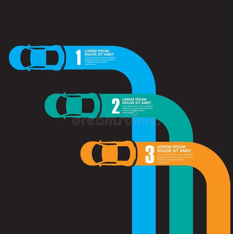 Infographics della macchina da corsa illustrazione di stock