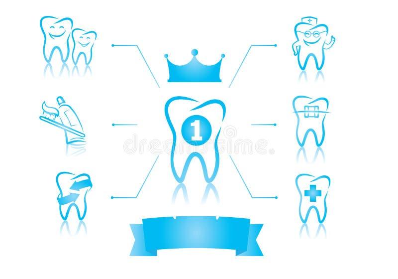 Infographics dentaire illustration libre de droits