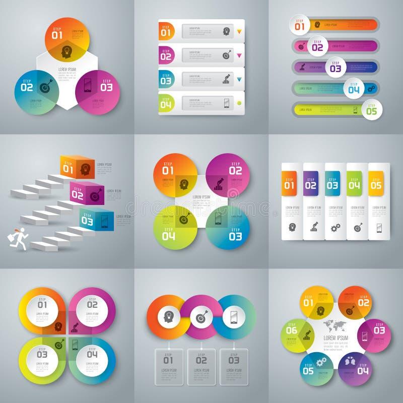 Infographics design royaltyfri illustrationer