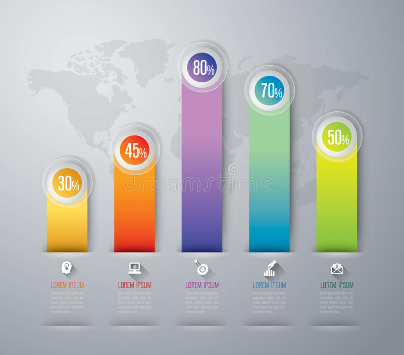 Infographics design. royalty free illustration