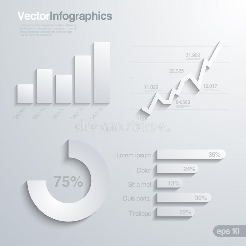 Free Infographics Design Elements Vector Template. Stock Photography - 30415872