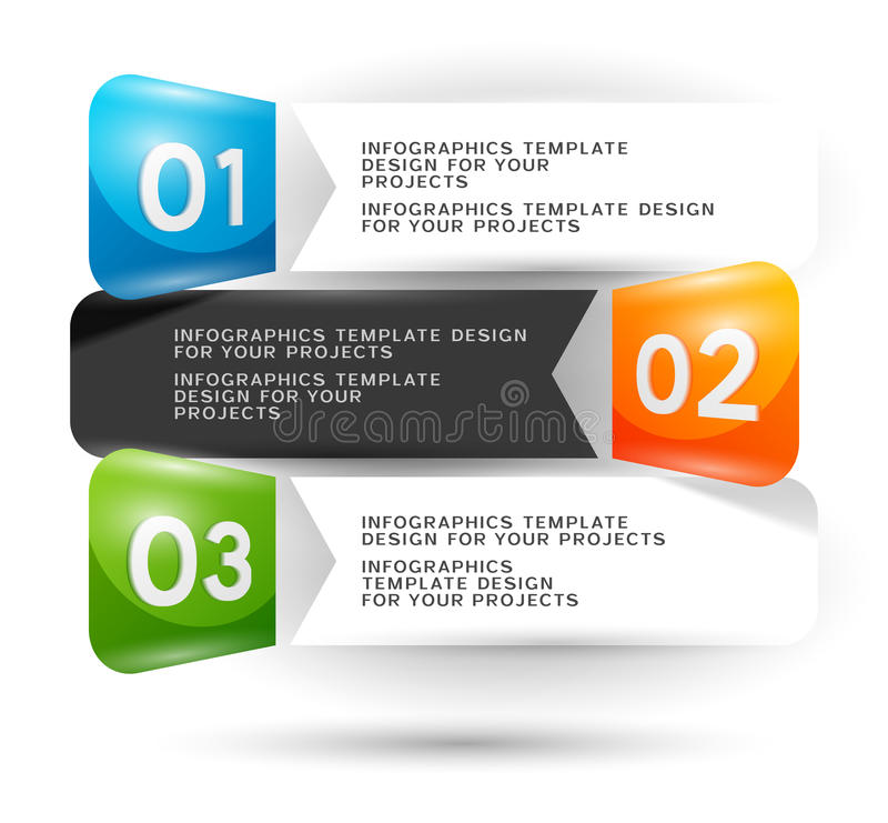 Infographics design with numbered elements stock illustration