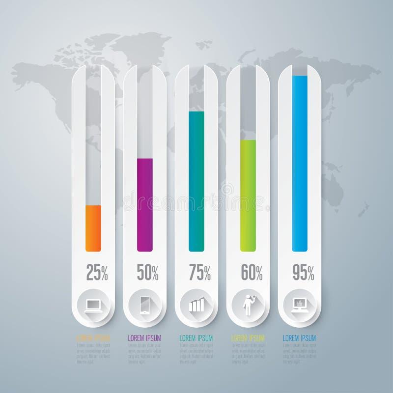 Infographics design template. royalty free illustration