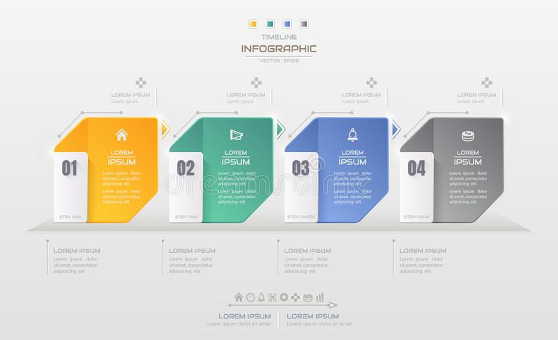 Infographics design template with business icons, process diagram, vector eps10 illustration vector illustration