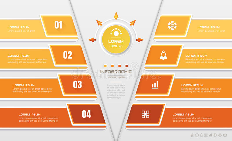 Infographics design template with business icons, process. Vector eps10 illustration vector illustration