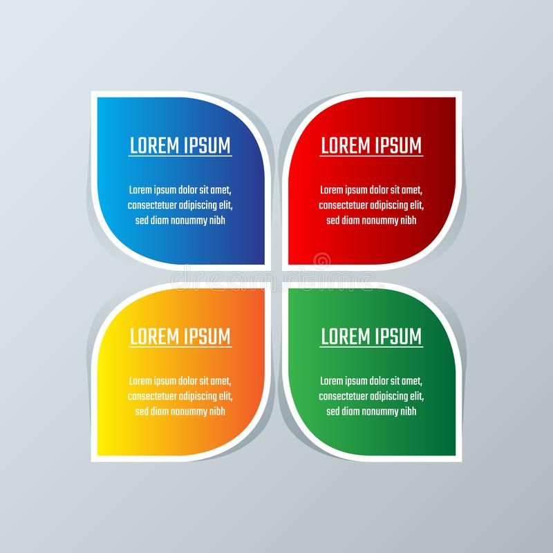 Business infographics template diagram layout. Infographics design template can be used for workflow layout, diagram, annual report adam steps or stock illustration