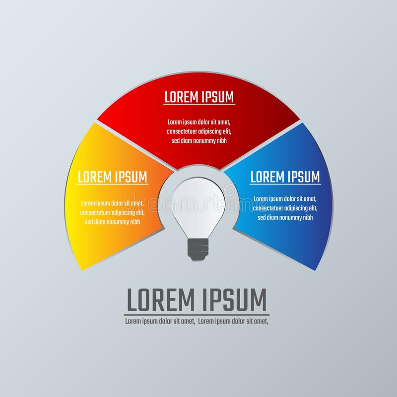Business infographics template diagram layout. Infographics design template can be used for workflow layout, diagram, annual report adam steps or vector illustration