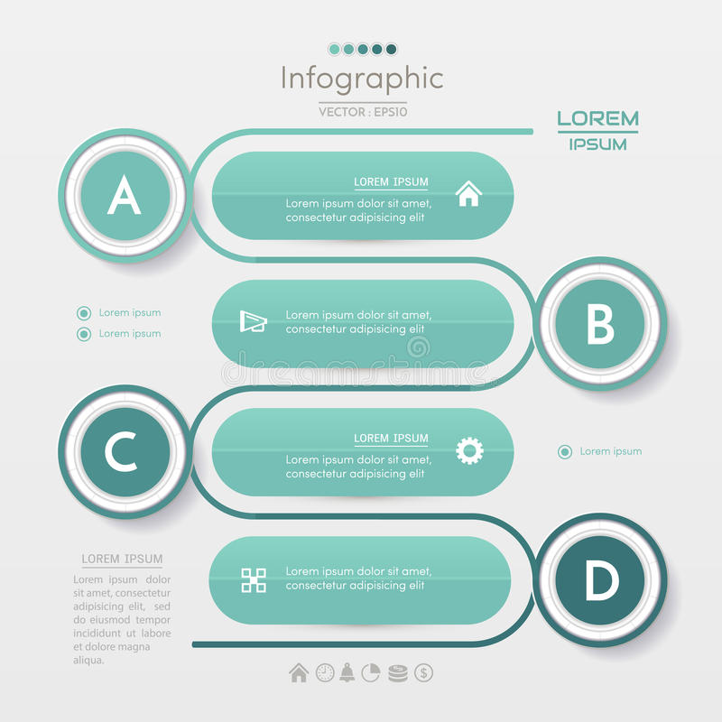 Infographics design template with icons, process diagram,. Eps10 illustration vector illustration
