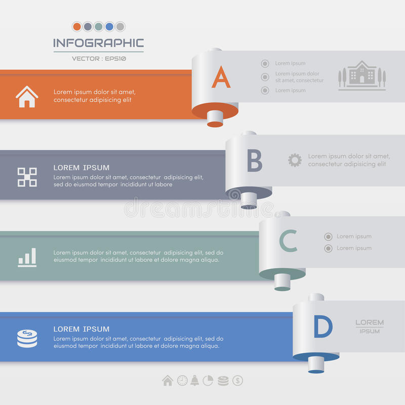 Infographics design template with icons, process diagram, vector. Eps10 illustration vector illustration