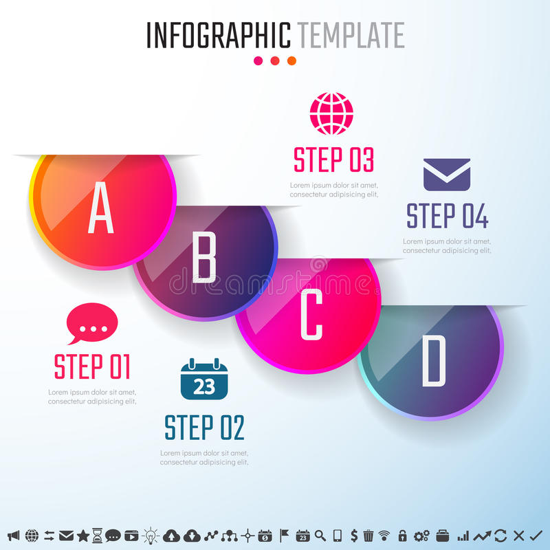 Infographics Design Template stock illustration